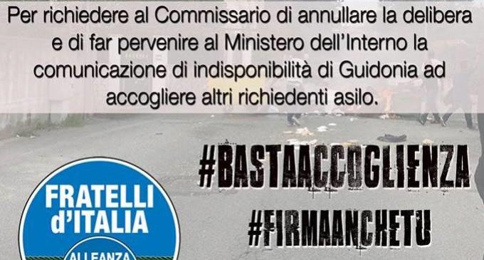 Villalba/Al via la raccolta firme organizzata da Fratelli d'Italia per la revoca della delibera sui nuovi progetti di accoglienza per migranti a Guidonia