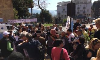 """Tivoli/La manifestazione di Cittadinanzattiva davanti all'ospedale: """"Ribadiamo la necessità di riqualificare i servizi territoriali"""""""