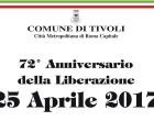 Tivoli/Il programma delle cerimonie per la Liberazione