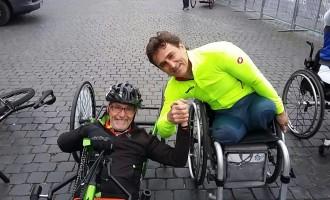 """Guidonia/Bruno Mincione taglia il traguardo della Maratona di Roma in handbike: """"Un'esperienza bellissima"""""""