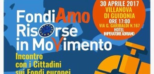 Villanova/Domenica 30 aprile si parla di Fondi Europei con il Movimento 5 Stelle